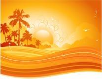 Coucher du soleil d'été illustration libre de droits