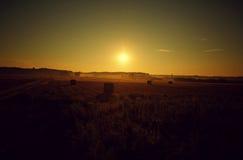 Coucher du soleil d'été Images stock
