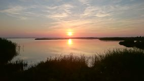 Coucher du soleil d'été Photographie stock libre de droits
