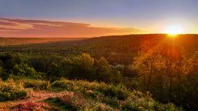 Coucher du soleil d'été Photographie stock
