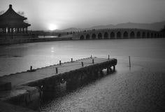 coucher du soleil d'été de palais Photos libres de droits