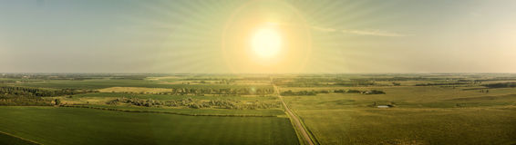 Coucher du soleil d'été du Dakota du Sud image libre de droits