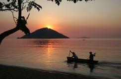 Coucher du soleil d'île photos libres de droits