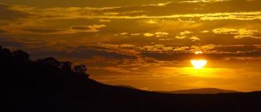Coucher du soleil d'île Photo stock