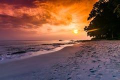 Coucher du soleil d'île de Havelock photographie stock libre de droits