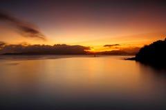 Coucher du soleil d'île de Lamma images stock
