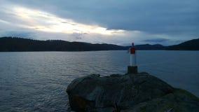Coucher du soleil d'île de Pender Photographie stock libre de droits