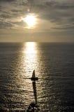 Coucher du soleil d'île de phuket Image stock