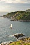 Coucher du soleil d'île de phuket Image libre de droits