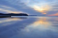 Coucher du soleil d'île de Rugen Images libres de droits