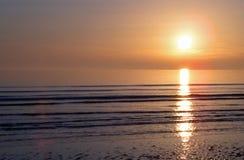 Coucher du soleil d'île de Walney Photo libre de droits