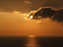 Coucher du soleil d'or 4 Image libre de droits
