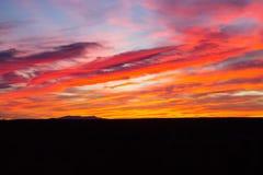 Coucher du soleil d'Afrique du Sud Photos stock