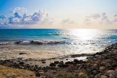 coucher du soleil d'alghero Photo stock