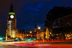 Coucher du soleil d'Amaizing dans la ville centrale de Londres Photographie stock libre de droits