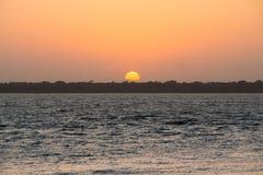 Coucher du soleil d'Amazone Images libres de droits
