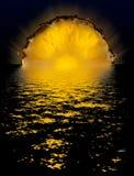 Coucher du soleil d'ananas Photographie stock libre de droits