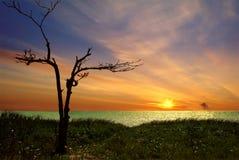 Coucher du soleil d'Ancon Images libres de droits