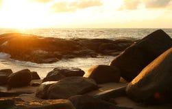 Coucher du soleil d'Andaman Photos stock