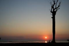 Coucher du soleil d'Andaman Photographie stock libre de droits