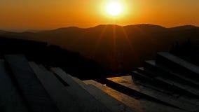 Coucher du soleil d'Arthur Rubinstein Memorial image libre de droits
