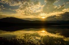 Coucher du soleil d'Ashokan Photos stock