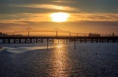 Coucher du soleil d'Astoria image stock