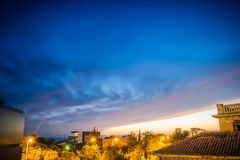 Coucher du soleil d'Athènes Photos libres de droits