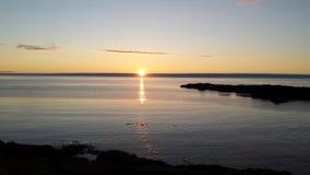 Coucher du soleil d'Atlantique nord Image libre de droits