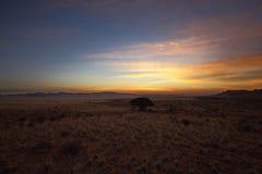 Coucher du soleil d'Aus Image stock