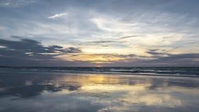 Coucher du soleil d'Australie de Broome Images libres de droits