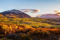 Coucher du soleil d'automne Image libre de droits