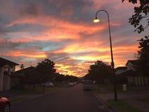 Coucher du soleil d'or de nuages photos libres de droits