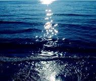 Coucher du soleil d'Egeeane Photographie stock
