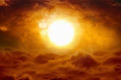 Coucher du soleil d'enfer photos libres de droits