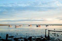 Coucher du soleil d'estuaire Images stock