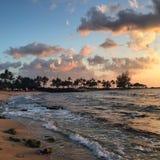 Coucher du soleil d'Hawaï Photographie stock