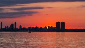 Coucher du soleil d'horizon Photographie stock