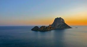 Coucher du soleil d'Ibiza Photo stock