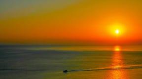Coucher du soleil d'Ibiza Image libre de droits
