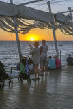Coucher du soleil d'ibiza de San Antonio Image stock