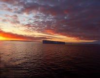 coucher du soleil d'iceberg tabulaire Photo libre de droits