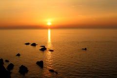 Coucher du soleil d'Ilfracombe Images stock