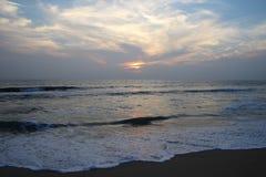 Coucher du soleil d'Inde Photo stock