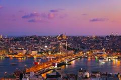 Coucher du soleil d'Istanbul Image stock