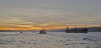 Coucher du soleil d'Istanbul Photo stock