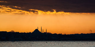 Coucher du soleil d'Istanbul Photo stock