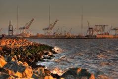 Coucher du soleil d'Oakland images libres de droits