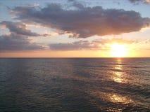 Coucher du soleil 006 d'océan Image libre de droits