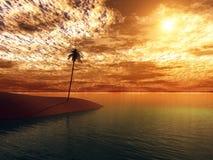 Coucher du soleil d'océan Images stock